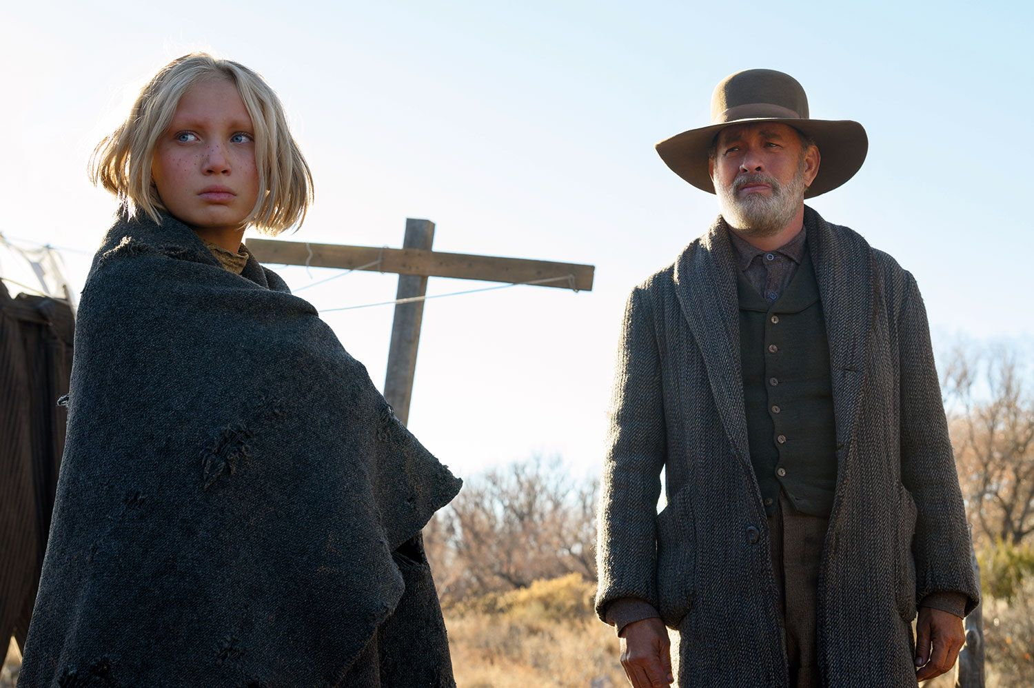 First Trailer For Paul Greengrass News Of The World Sets Tom Hanks On A Western Adventure
