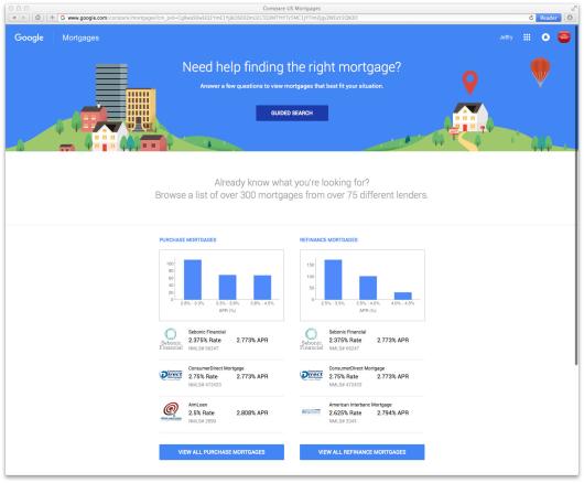 Google Gunning for Banks\u0027 Mortgage Business