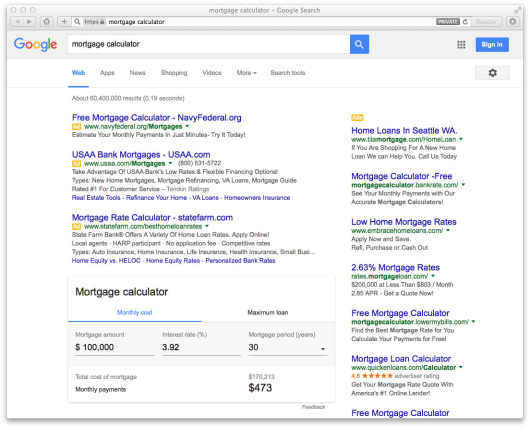 Appraising Google\u0027s Mortgage Comparison Tool