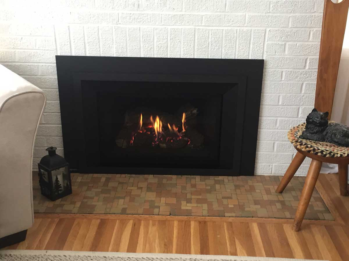Gas Fireplace Tune Up Minneapolis White Brick The Fireplace Guys