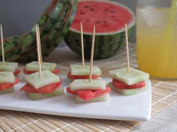 Cucumber Watermelon Sandwiches