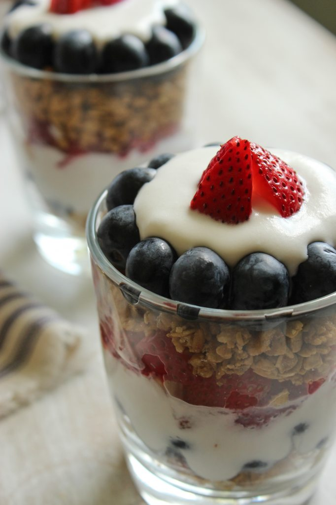 Red, White, and Blue Vegan Parfaits