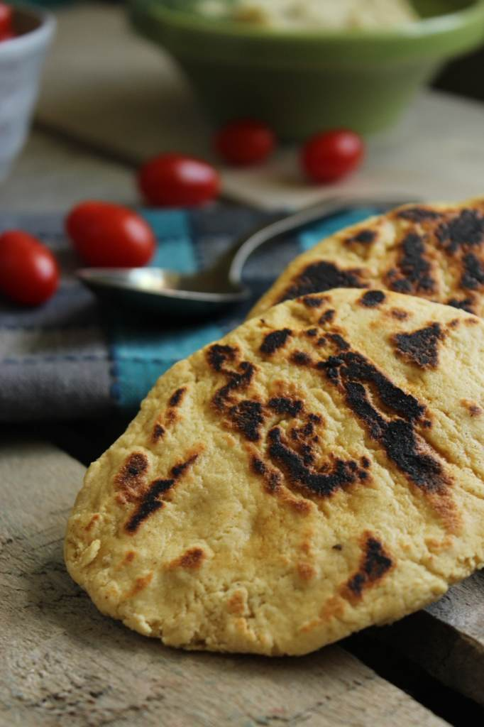 healthy fava bean hummus with gluten free naan the fitchen
