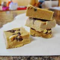 SunButter Fudge with Chocolate Chips