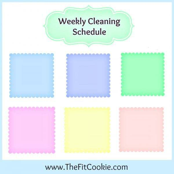 Printable Weekly Cleaning Schedule The Fit Cookie - housework schedule