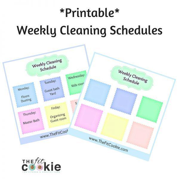 Housework Helper Cleaning Schedule The Fit Cookie - housework schedule