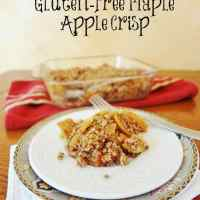 Healthy Gluten-Free Maple Apple Crisp