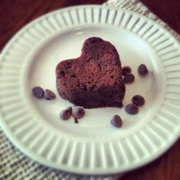 Black Forest Brownie Hearts