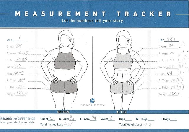Body Measurement Tracking Chart