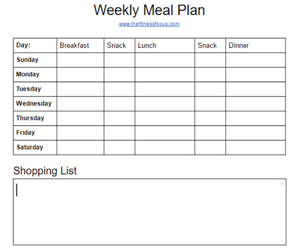 How to Meal Plan The First Step to Meal Prep - The Fitness Focus