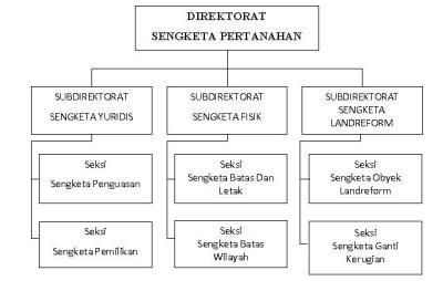 Bagan Struktur Organisasi Direktorat Sengketa Pertanahan