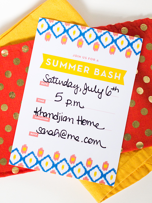 Printable Ikat Summer Party Invitation The Flair Exchange®The - invitation for a get together