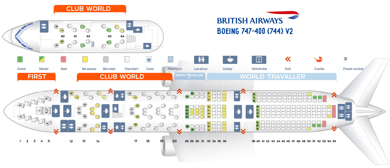 Seat Map Boeing 747 400 British Airways Best Seats In Plane