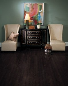 Dark birch hardwood flooring in Los Angeles California