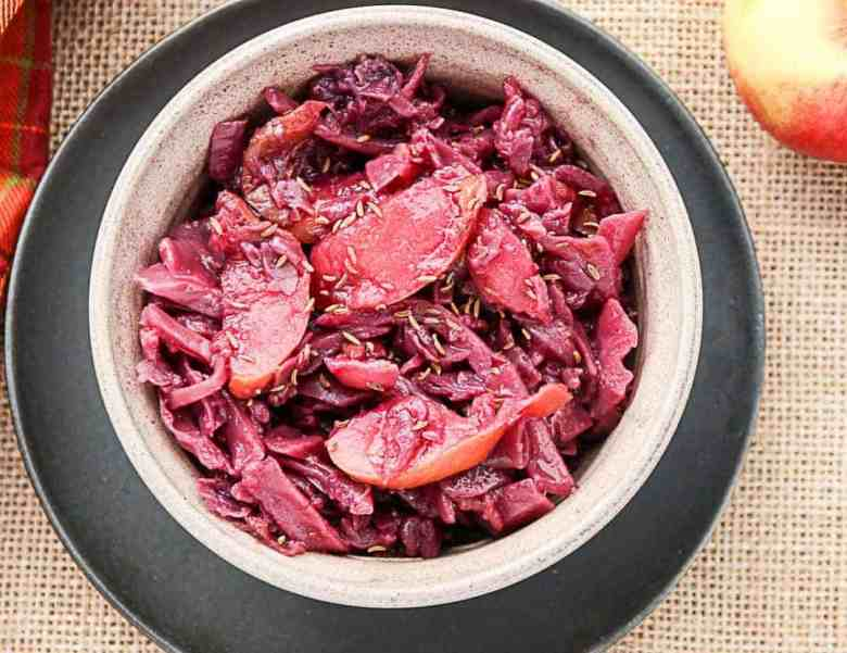 Slow Cooker Red Cabbage & Apples -Braised Red Cabbage ...
