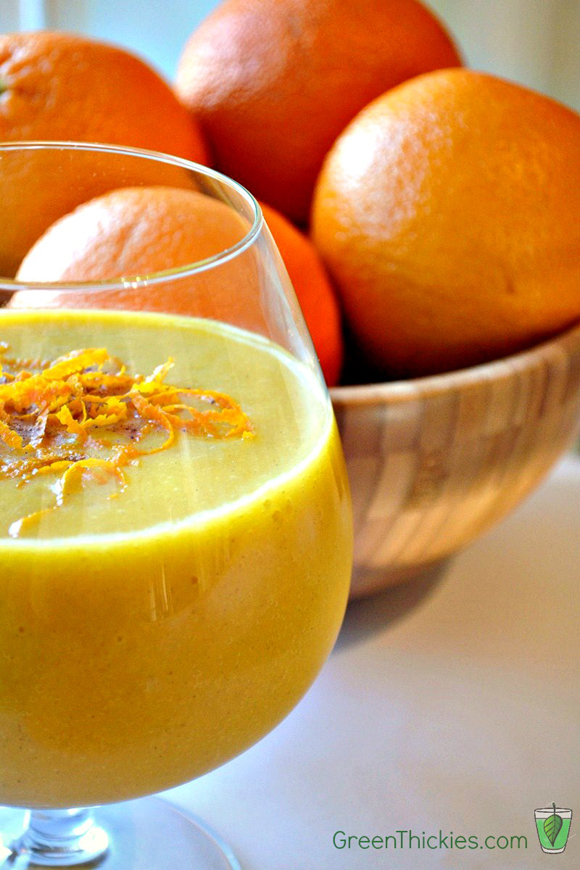 Healthy Homemade Orange Julius Recipe picture green thickies