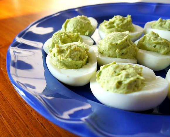 Avocado Deviled Eggs recipe by 365 Days of Slow Cooking