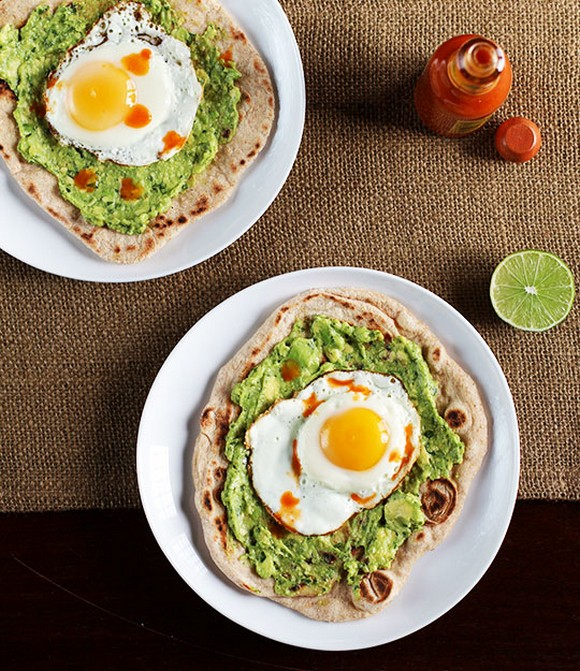 Avocado and Egg Breakfast Pizza recipe by The Kitchn