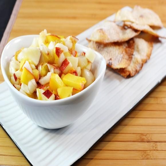 Apple Pear Salsa With Cinnamon Chips recipe photo