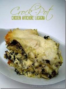 Chicken and Artichoke Slow Cooker Lasagna recipe photo