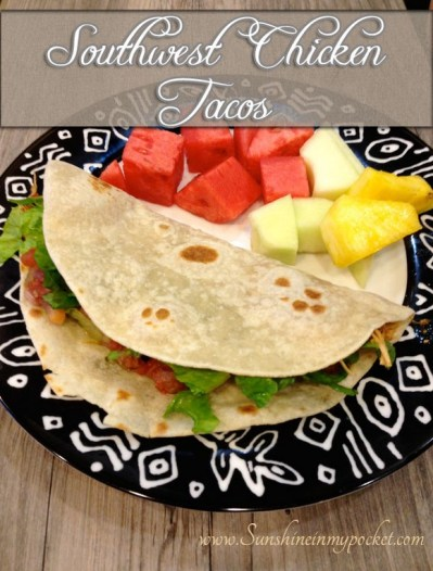 Crockpot Southwest Chicken Tacos recipe photo