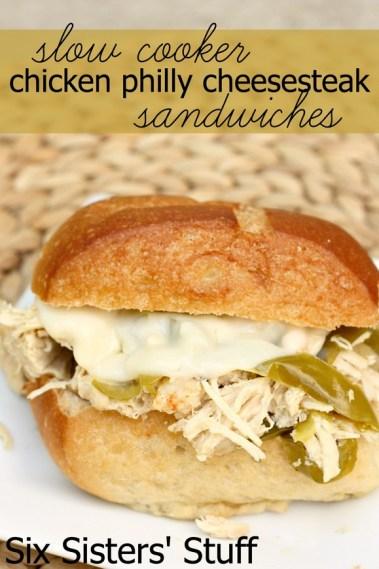 Slow Cooker Chicken Philly Cheesesteak Sandwich recipe photo