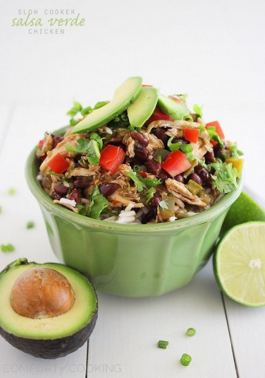 Slow Cooker Salsa Verde Chicken recipe photo