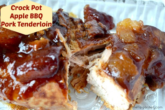 Crock Pot Apple BBQ Pork Tenderloin recipe photo