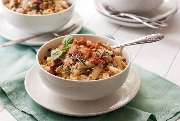 Gluten Free Corn and Bacon Pasta recipe photo