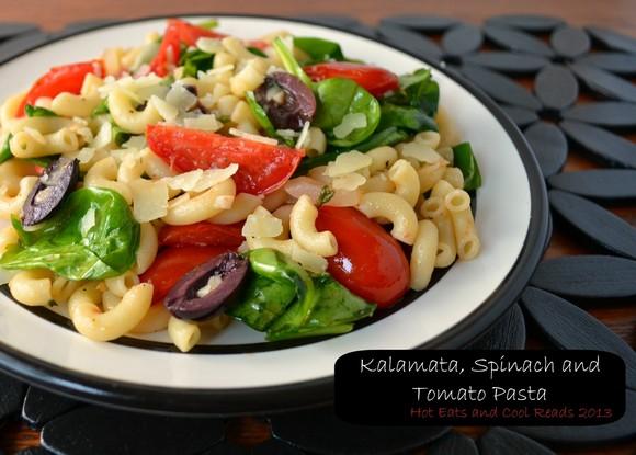 Kalamata, Spinach and Tomato Pasta recipe photo