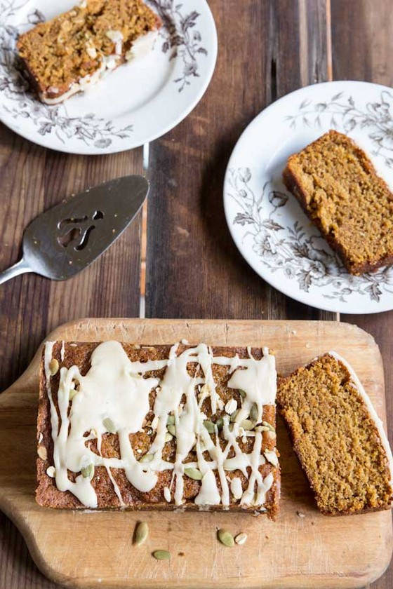 Pumpkin Bread with Maple Icing recipe photo