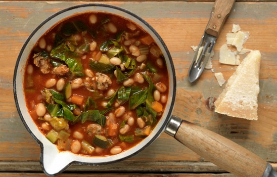 Rustic Tuscan Bean And Sausage Soup recipe photo