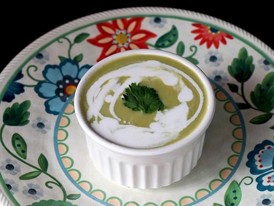 Simple Crockpot Cream of Asparagus Soup recipe photo