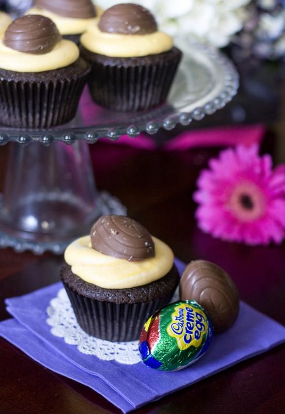 Cadbury Creme Egg Cupcakes recipe photo