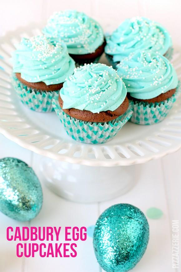 Cadbury Egg Easter Cupcakes recipe photo
