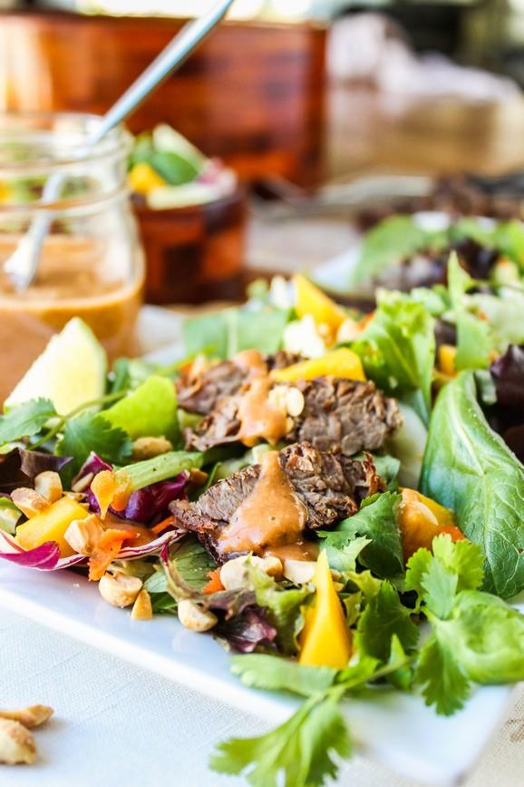 CrockPot Thai Steak Salad with Peanut-Hoisin Sauce recipe photo