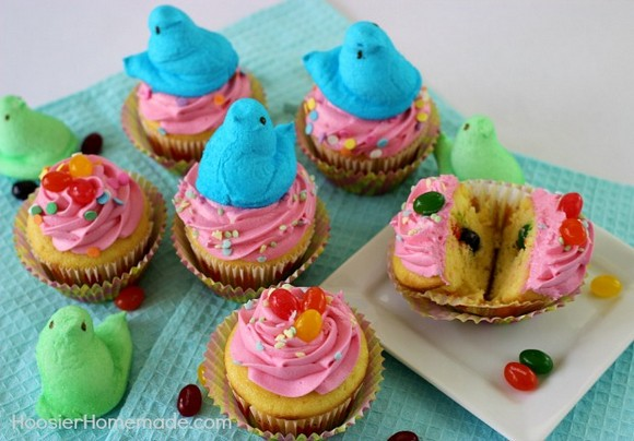Jelly Bean Surprise Easter Cupcakes recipe photo