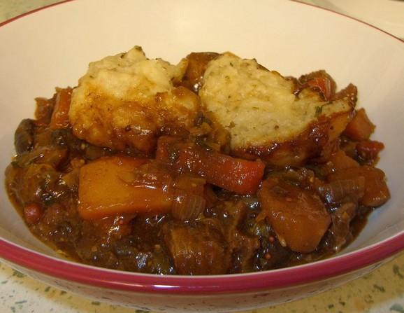 Slow Cooker Beef Stew with Herby Dumplings recipe photo