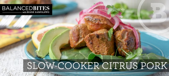 Slow-Cooker Citrus Pork (with quick-pickled red onions) recipe photo