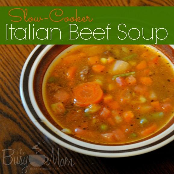 Slow-Cooker Italian Beef Soup recipe photo