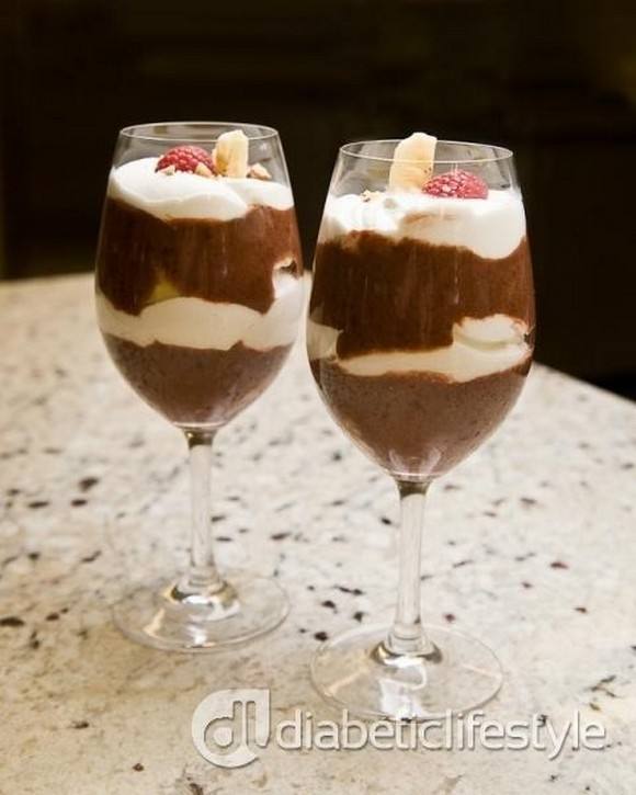 Diabetic Banana Chocolate Parfaits recipe photo