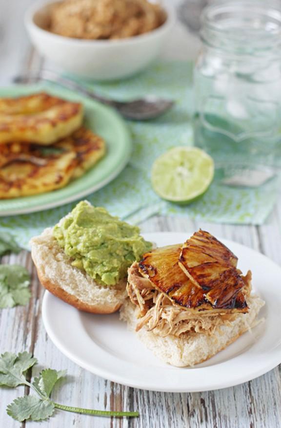 Crockpot Pineapple Chicken Sandwiches recipe photo