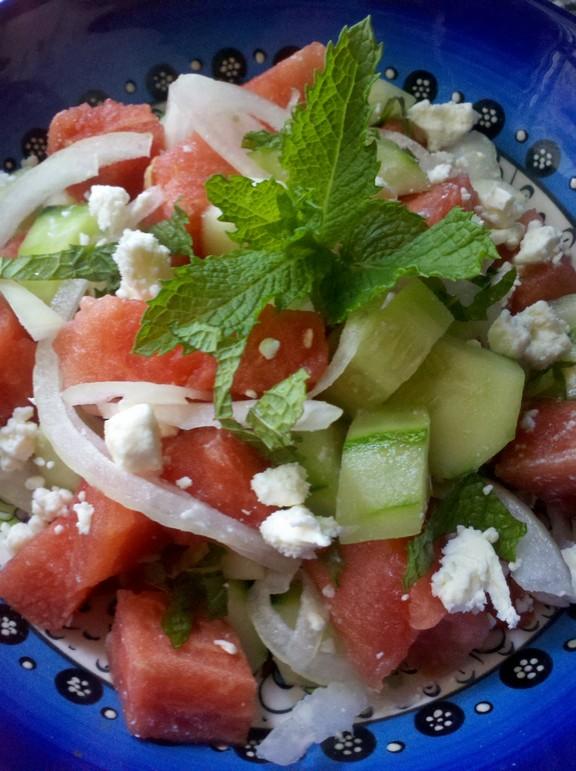 Hydrating Watermelon Salad recipe