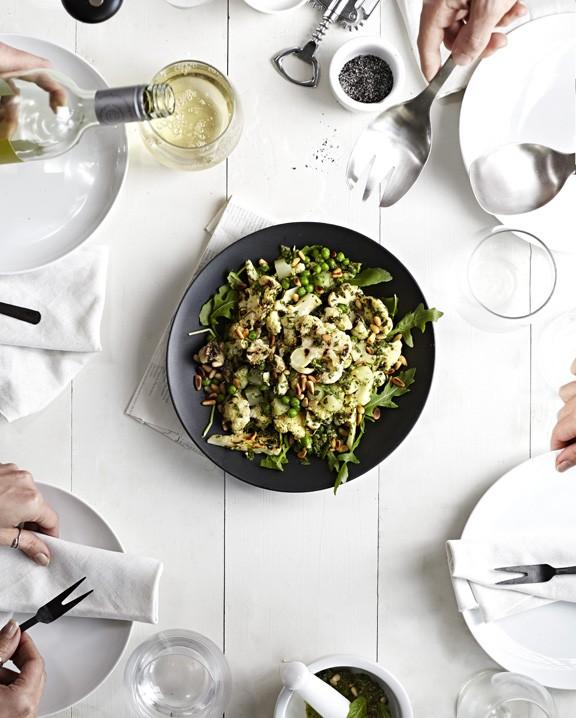 Pesto Cauliflower and Potato Salad recipe