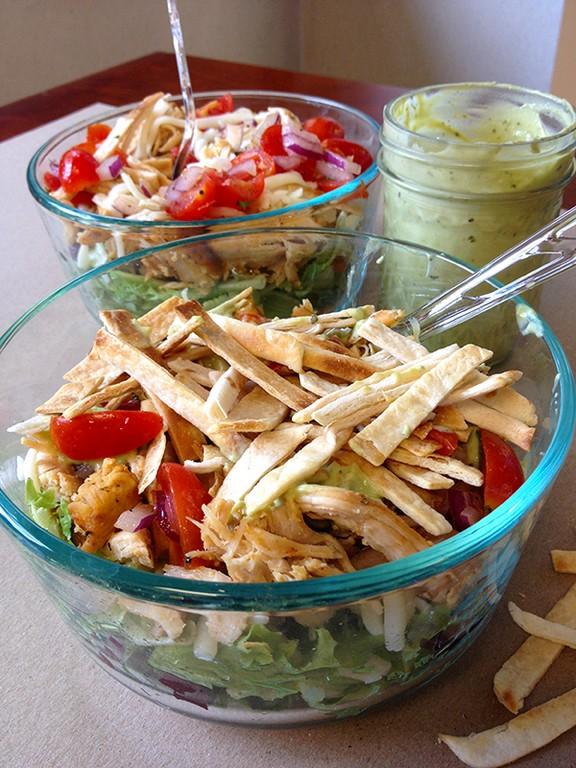 Skinny Tex Mex Taco Salad recipe