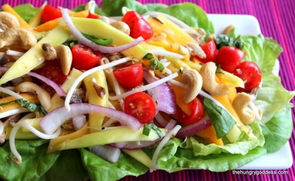 Thai Green Papaya & Mango Salad with Sardines recipe