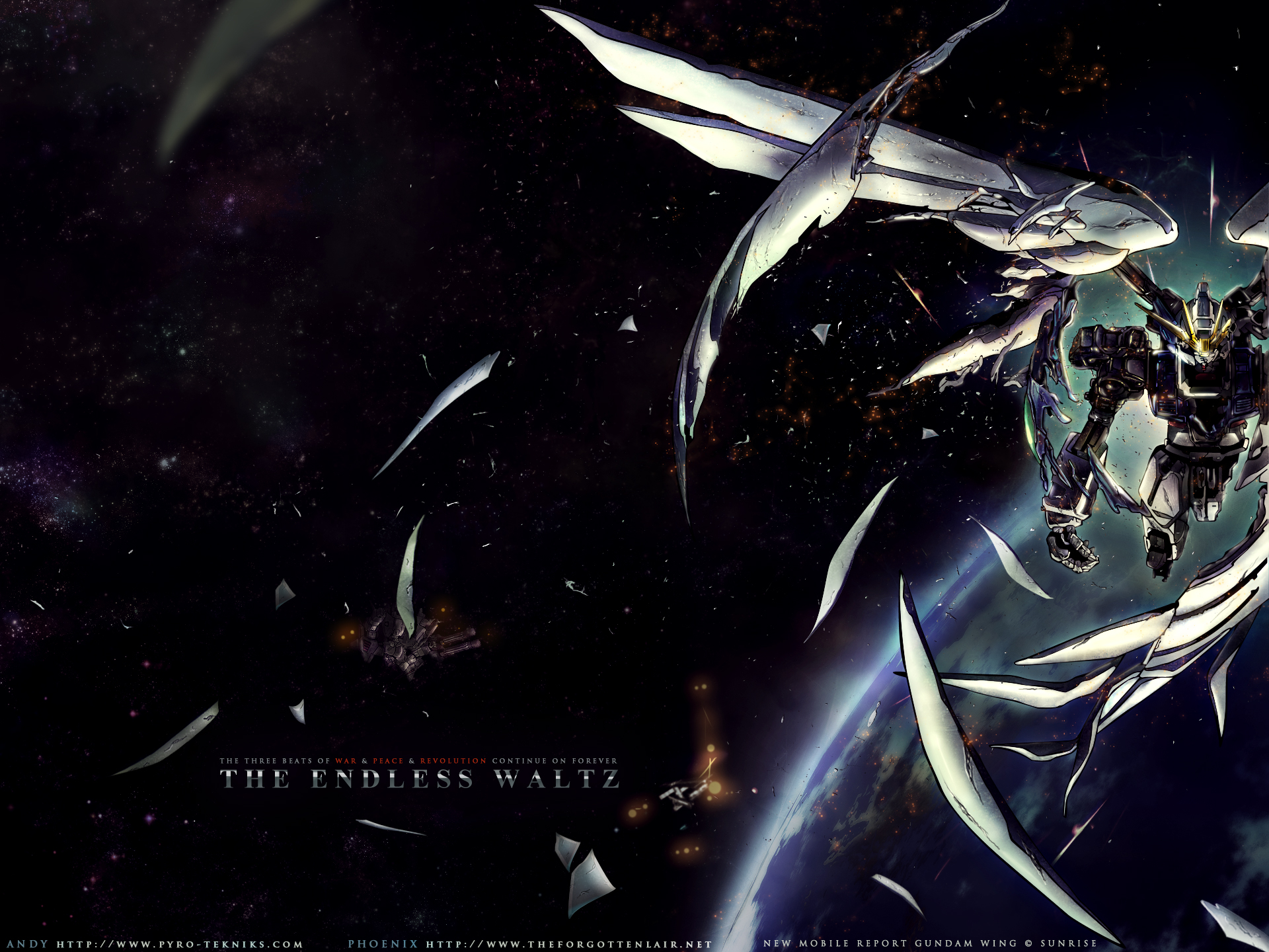 Wampire Moon Wallpaper Desktop 3d The Forgotten Lair Mobile Suit Gundam Wing Desktop