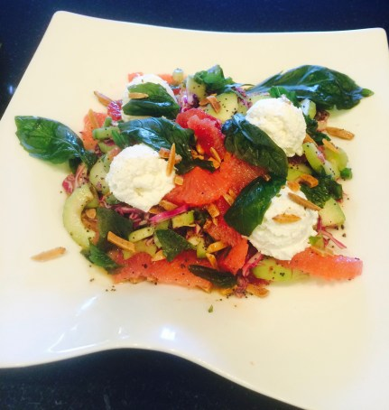 Citrus Salad with Honey Poppy Seed Dressing and Spiced Almonds