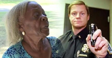 Image result for Shocking Video Shows Cops Kick In Door, Assault, & Pepper Spray Innocent 84yo Grandma