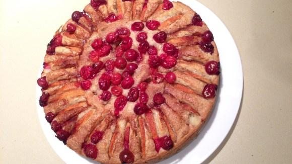 Sally Schmitt's Cranberry and Apple Kuchen